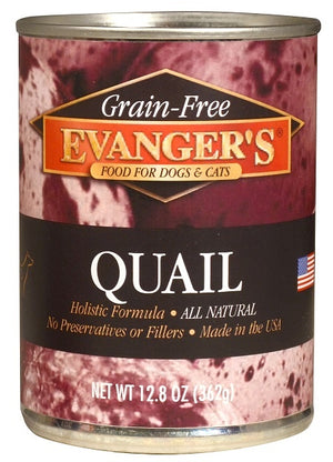 Evangers Grain Free Quail Canned Food for Dogs and Cats