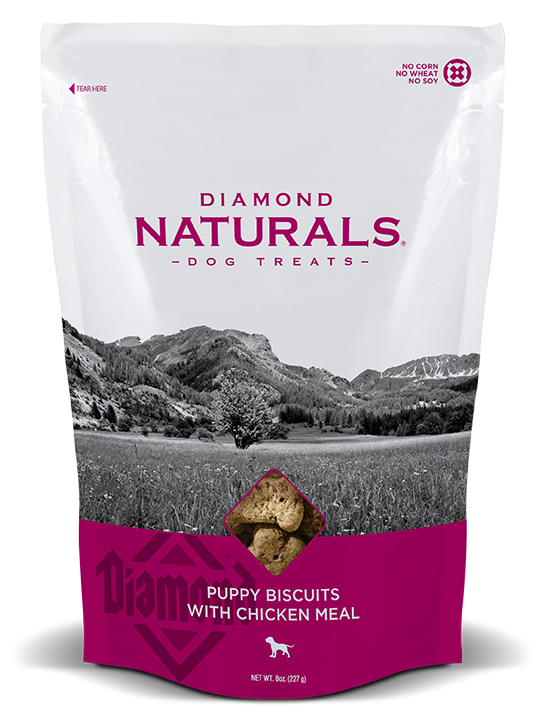 Diamond Naturals Puppy Biscuits with Chicken Meal Dog Treats