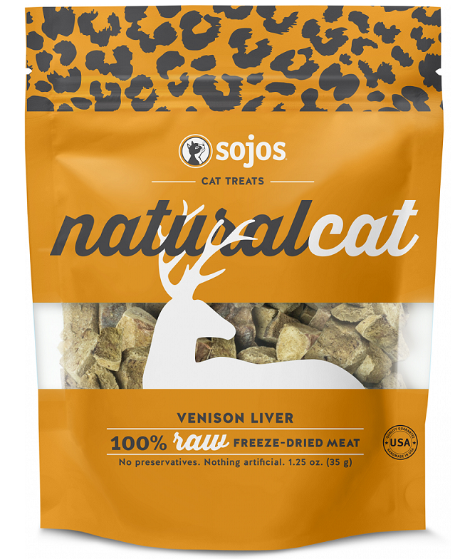 Sojos Natural Cat Venison Liver Freeze Dried Cat Treats