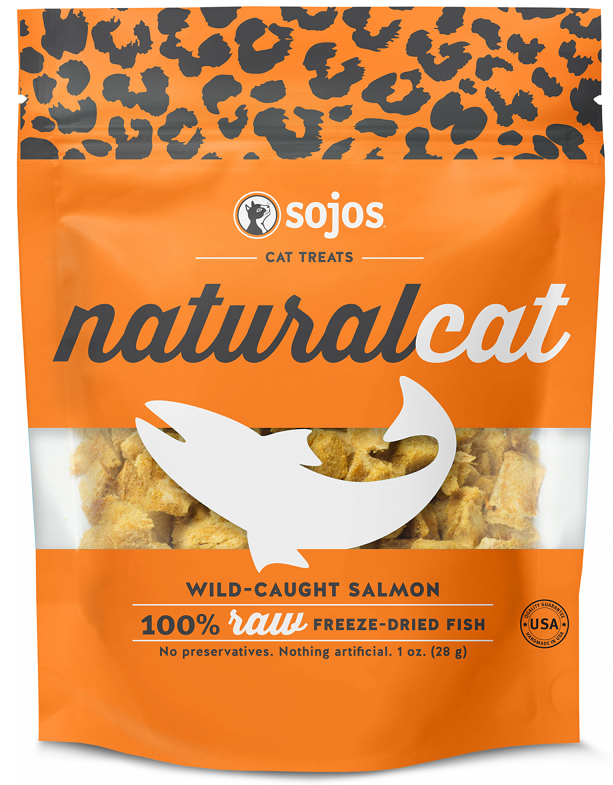 Sojos Natural Cat Wild Caught Salmon Freeze Dried Cat Treats
