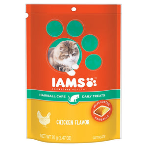 Iams ProActive Health Hairball Care Daily Chicken Cat Treats