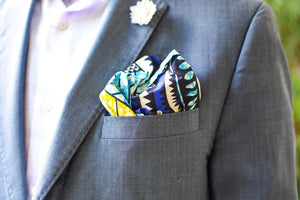 African Print Pocket Square