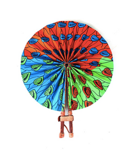 Cowrie Shell Folding Hand Fan - Harambee Crafts