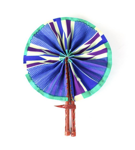 Lavender Folding Hand Fan - Harambee Crafts