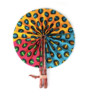 Multicolored Folding Hand Fan - Harambee Crafts