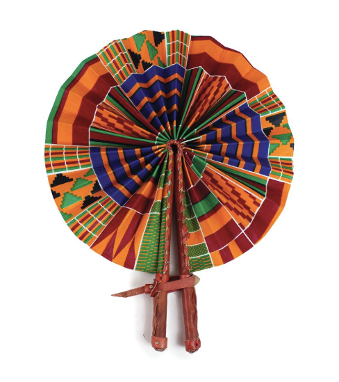 Kenyan Kente Folding Hand Fan - Harambee Crafts