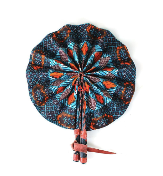 Turquoise Folding Hand Fan - Harambee Crafts