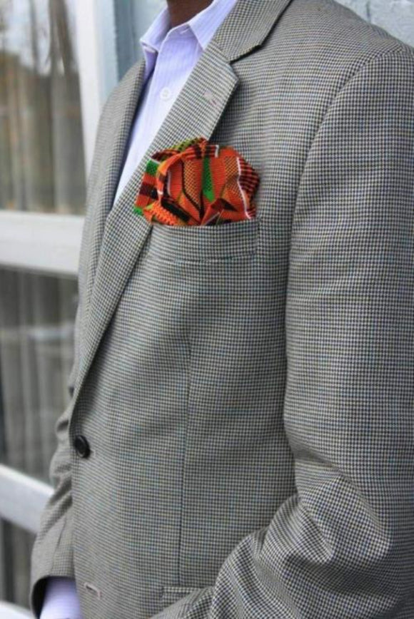 CLASSIC KENTE MEN'S POCKET SQUARE - Harambee Crafts