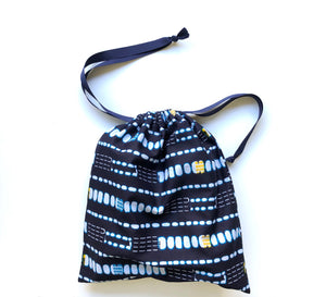 Indigo and Yellow Travel Bag - Harambee Crafts