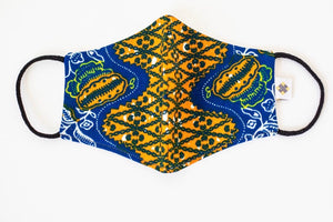 NAVY, RED AND GOLDENROD MEN'S AFRICAN POCKET SQUARE - Harambee Crafts