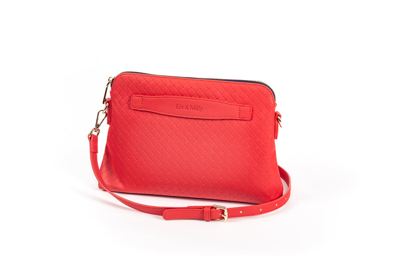 Lucille Cross Body Bag in Tomato Red