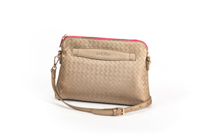 Lucille Cross Body Bag in Metallic Gold