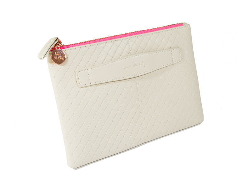 Chloe Clutch in Cream