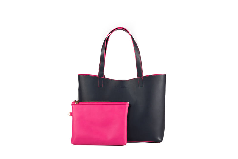 Chelsea Tote -  Two Tone in Pink