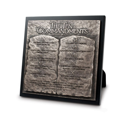 10 COMMANDMENTS SCULPTURE PLAQUE (LG)
