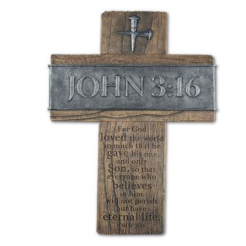 John 3:16 Desktop Cross Large