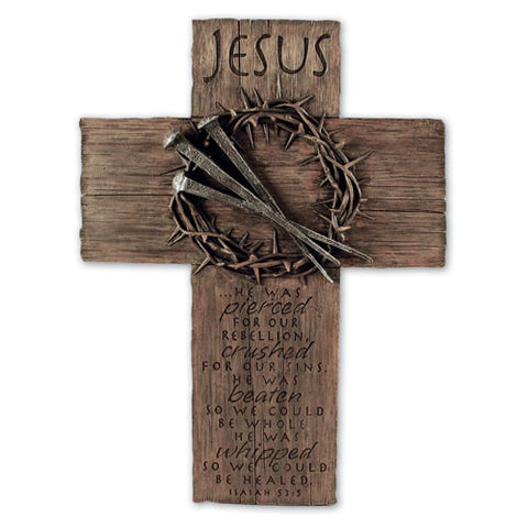 Jesus Crown of Thorns Wall Cross