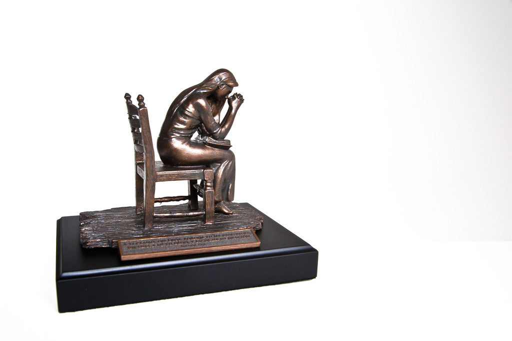 Praying Woman Sculpture