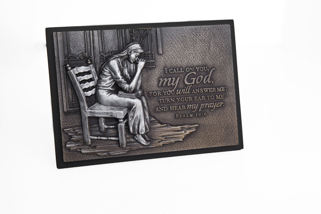 Praying Woman Sculpture Desk Plaques