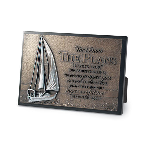 Sailboat Sculpture Desk Plaque