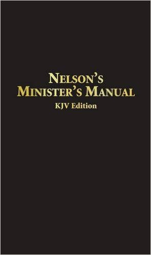 NELSON'S MINISTER'S MANUAL BONDED LEATHER KJV
