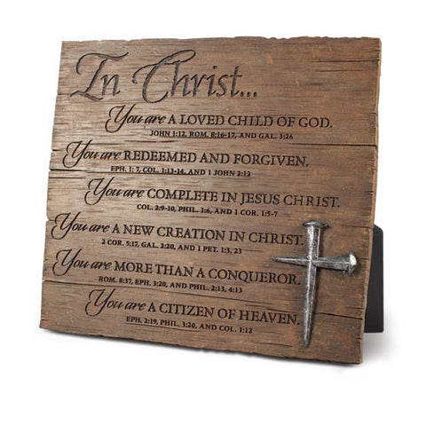 In Christ With Nails Sculpture Desk Plaque