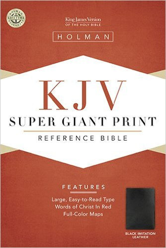 KJV SUPER GIANT PRINT REFERENCE BIBLE BLACK LL