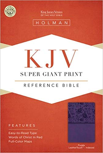 KJV REFERENCE SUPER GIANT PRINT PURPLE LL