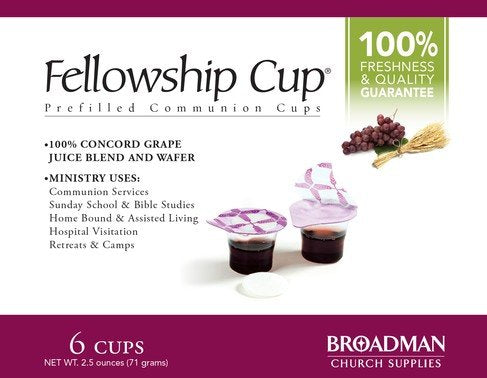 Fellowship Communion Prefilled Cups With Soft Wafer