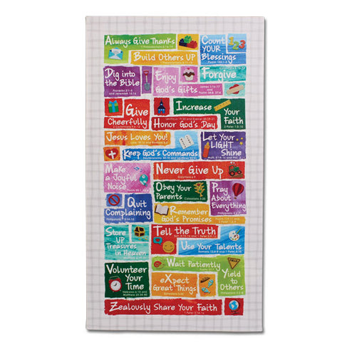 ABC'S OF FAITH FOR KIDS COLORFUL CANVAS