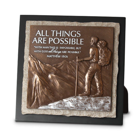 All Things are Possible Sculpture Plaque