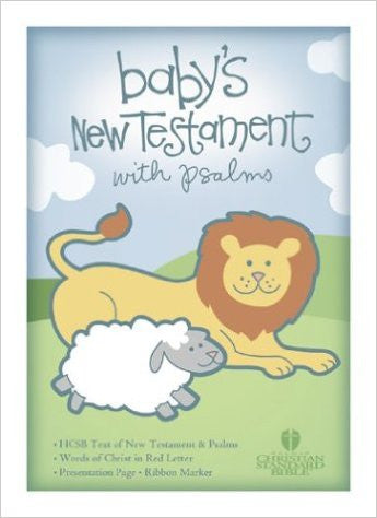 HSCB BABYS NEW TESTAMENT WHITE WITH PSALMS