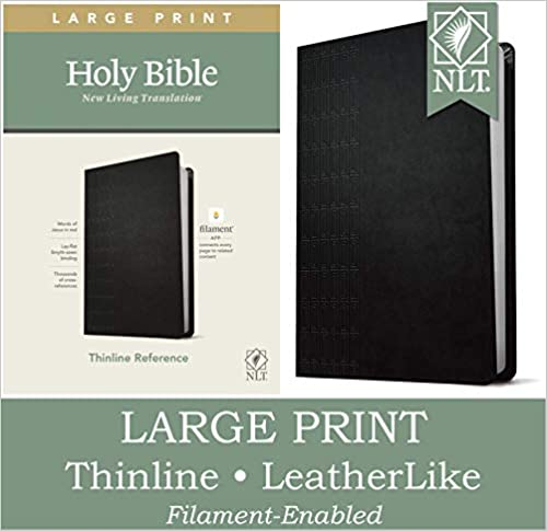 NLT Large Print Reference Thinline Filament Bible