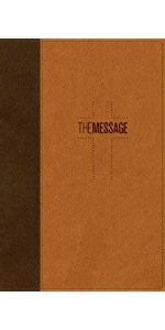 MESSAGE DELUXE GIFT BIBLE LEATHER-LOOK