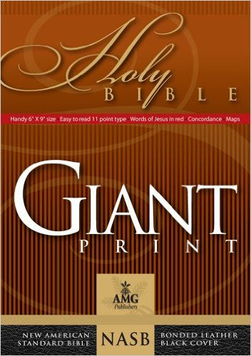 NASB Giant Print Holy Bible Black Bonded Lthr