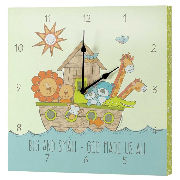 BIG & SMALL GOD MADE US ALL WALL CLOCK