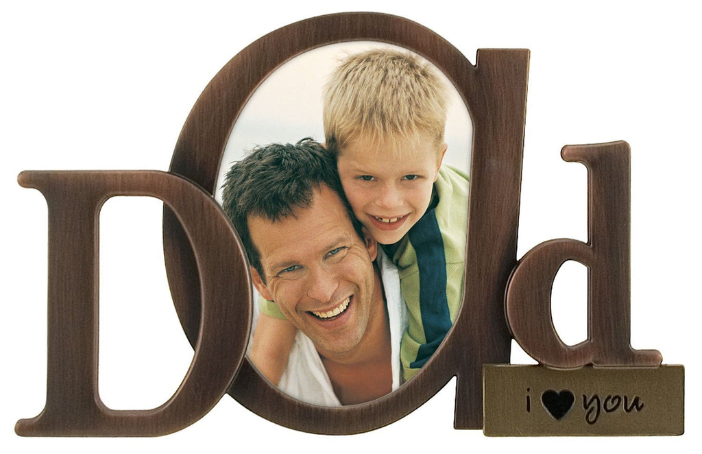 Malden Bronze Script Dad Picture Frame with One Opening