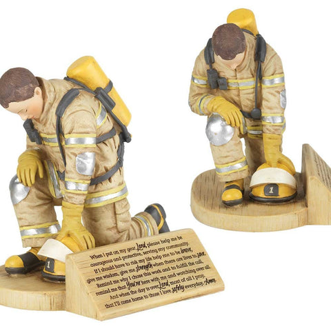 FIREFIGHTER'S PRAYER RESIN FIGURINE