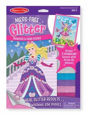 MESS-FREE GLITTER PRESS-ON PRINCESS & FAIRY