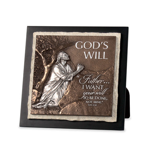 God's Will Sculpture Plaque