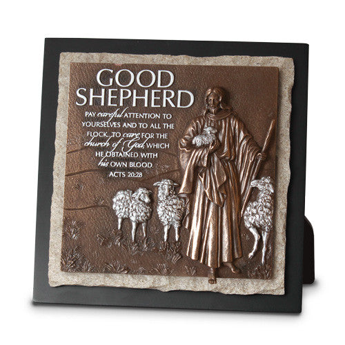Good Shepherd-Ministry Edition Sculpture Plaque
