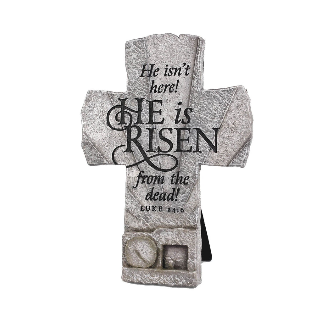 He Is Risen Empty Tomb Cross
