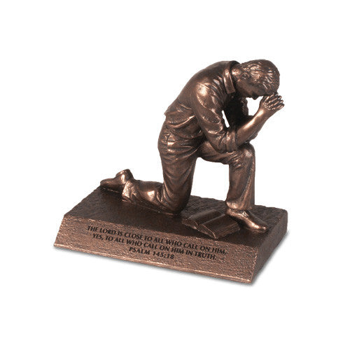 Praying Man Bronze Sculpture