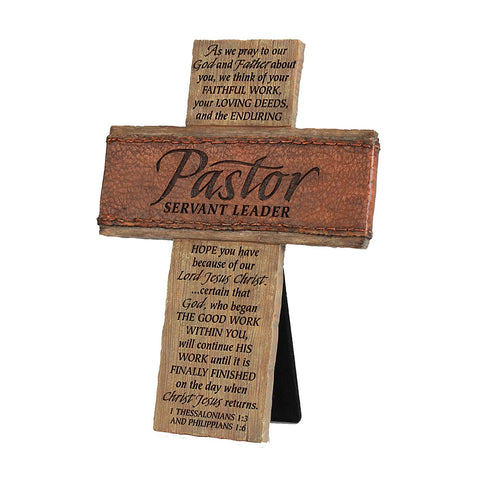 PASTOR SERVANT LEADER WALL/DESK CROSS