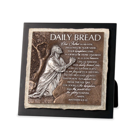 Daily Bread-Our Father Sculpture Plaque