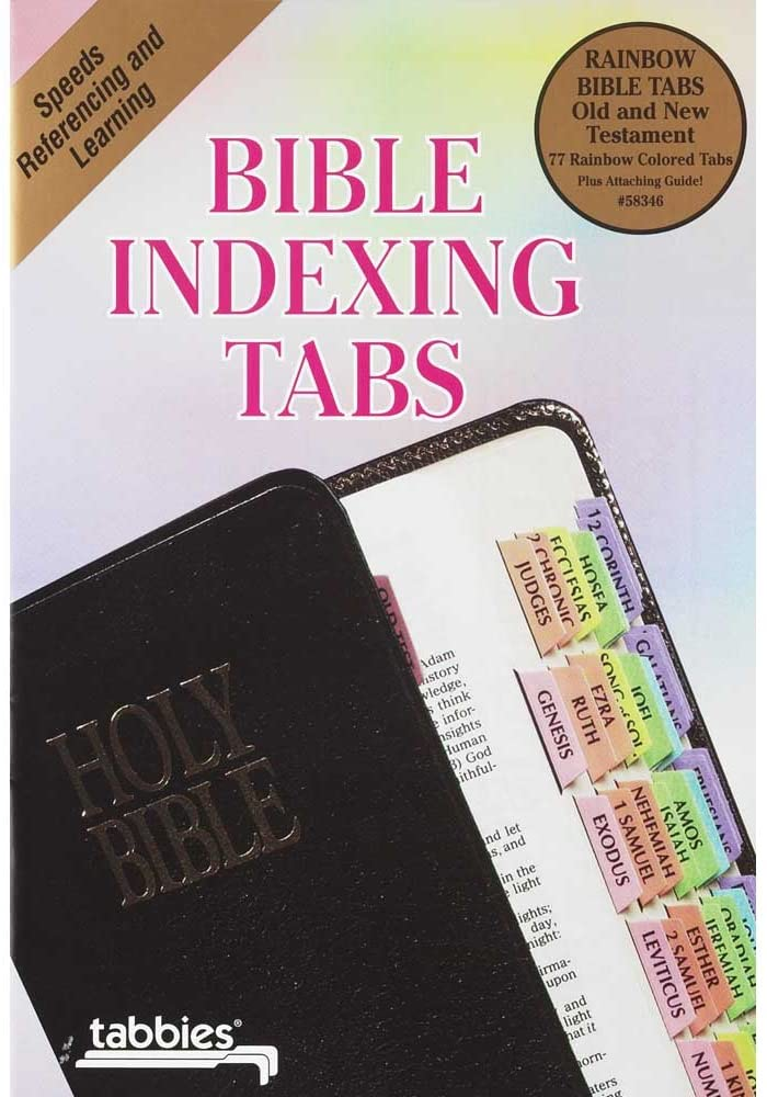 Bible Indexing Tabs Rainbow Color Old & New Testament