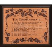 Framed Carving-10 Commandements