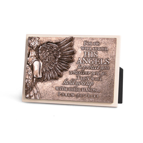 Angel Wing Guard You Sculpture Plaque