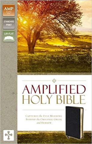 AMPLIFIED 2015 ED HOLY BIBLE BLACK BOND LTHR