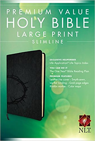 NLT PREMIUM VALUE LARGE PRINT SLIMLINE BIBLE